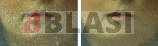 Detall de l'abans i el després del retoc cromàtic