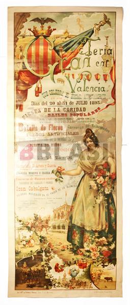 Restauració d'un cartell de la Fira de València