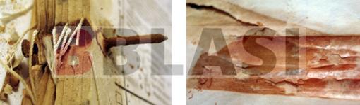 Clau rovellat i restes de cinta autoadhesiva