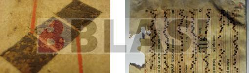 Restauració d'una partitura en pergamí