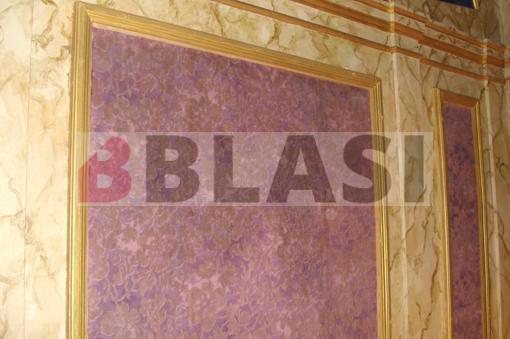 Papers pintats després de la restauració