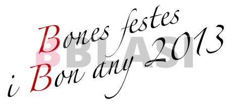 Bones festes i bon any 2013!