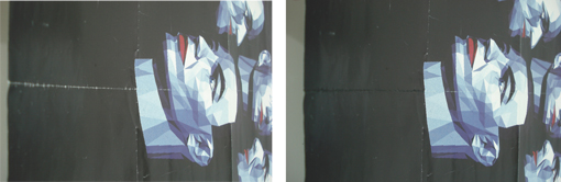 Restauració d'un cartell del grup Kraftwerk
