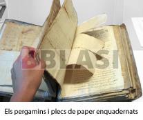 Els pergamins i els plecs de paper enquadernats