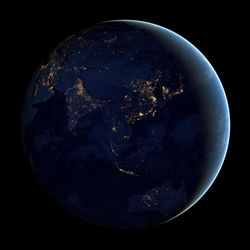 Planeta terra de nit