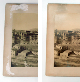 Abans i després de la restauració de la fotografia
