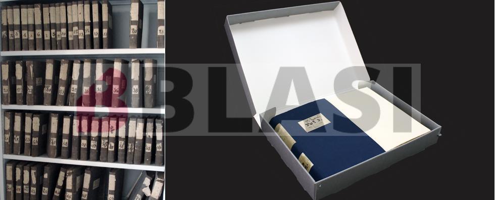 Abans i després de la restauració dels 57 llibres d'expropiacions dels Canals d'Urgell