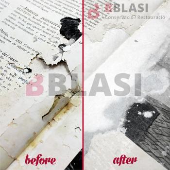 L'abans i el després de la restauració de la revista
