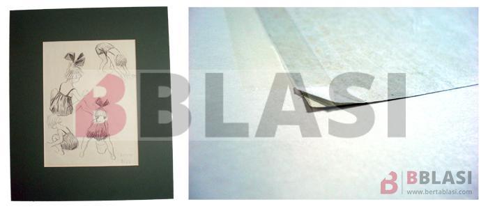 Aquest dibuix de Ricard Opisso també tenia cintes autoadhesives, més conegudes com a