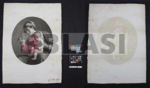 Després de la restauració del gravat de la Verge Maria i el nen