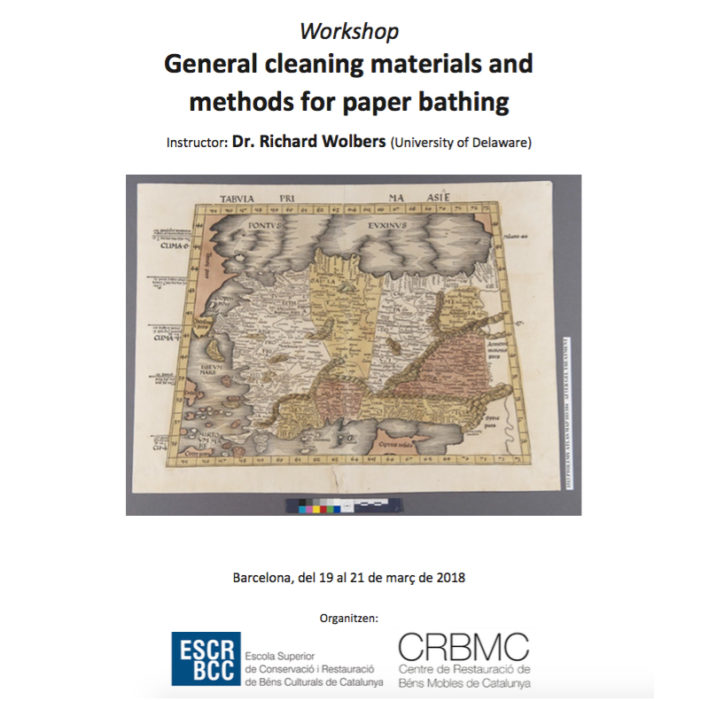 Richard Wolbers. General cleaning materials and methods for paper bathing. Barcelona 2018