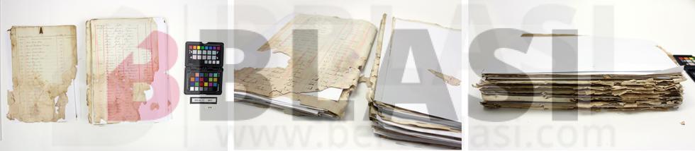 Llibre d'allistaments de l'Arxiu Històric de Badalona abans abans de la restauració