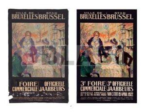 Cartell publicitari 3ª Foire Commertialle Buxelles