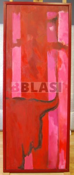 Restauració d'una pintura a l'oli sobre cartró