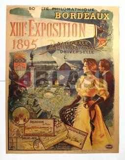 Restauració d'un cartell de la exposició internacional de 1895