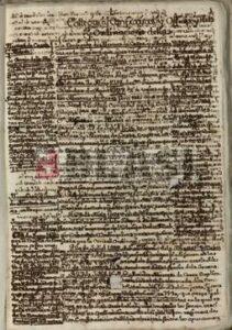 Manuscrit amb tintes ferrogàl·liques abans de la restauració digital