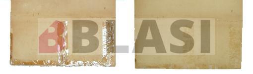El mapa abans i després de retirar les cintes autoadhesives