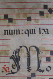 Caplletra partitura sobre pergamí