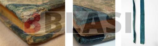 Restauració enquadernació bradel detalls