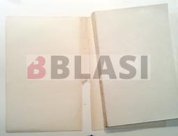 Un dels llibres de la col·lecció de Le Corbusier abans de la restauració