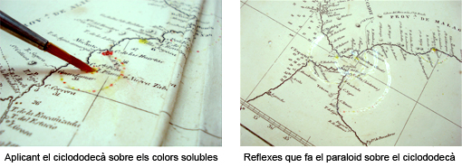 Ús del ciclododecà i el paraloid en tintes solubles