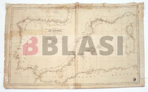 Carta de les costes de la península Ibèrica i el nord d'Àfrica