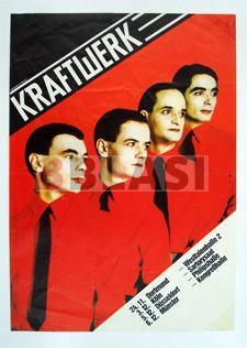 Restauració d'un cartell de Kraftwerk