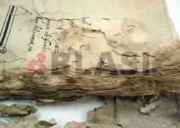 Detall dels primers quadernets abans de la restauració