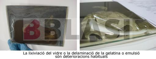 Lixiviació del vidre i delaminació de la capa de gelatina