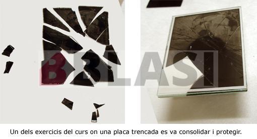 Conservació i restauració d'un negatiu sobre placa de vidre