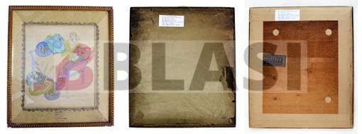 El marc de l'Ismael Smith abans i després de la intervenció de conservació preventiva