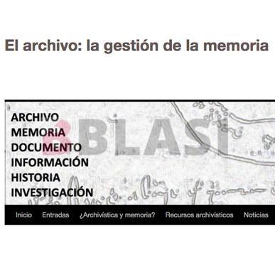 El archivo: la gestión de la memoria. Recuperar la memoria. Entrevista a Berta Blasi restauradora