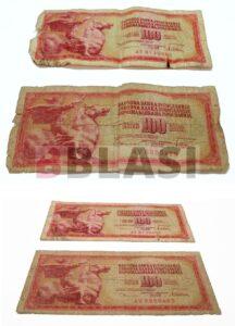 Bitllets abans i després de la restauració