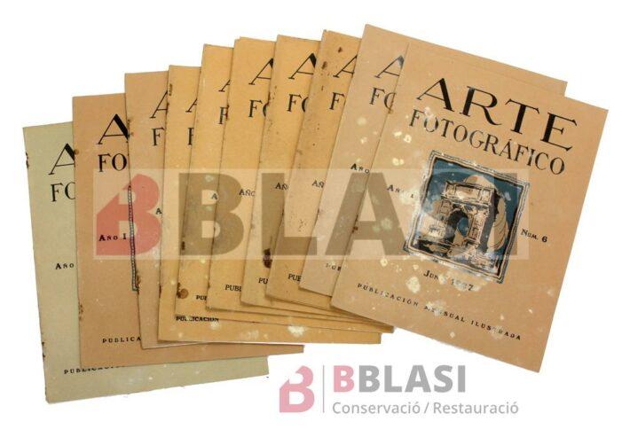 """Revista """"Arte Fotrográfico"""" abans de la restauració"""