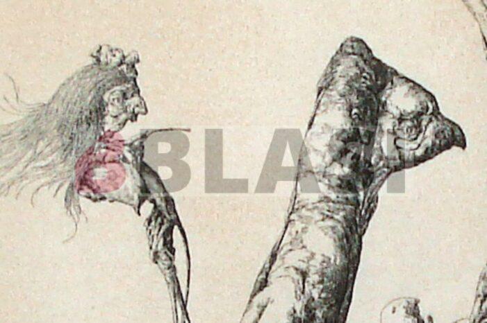 Aquelarre. Restauració del gravat a la puntaseca de José Hernández