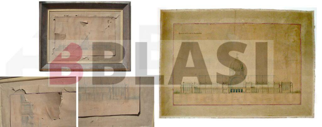 Museu de l'Arquitectura. Projecte final de carrera de Puig i Cadafalch abans i després de la restauració