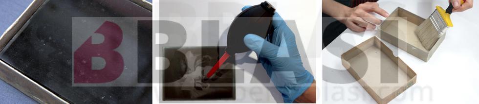Restauració de negatius fotogràfics sobre plaques de vidre