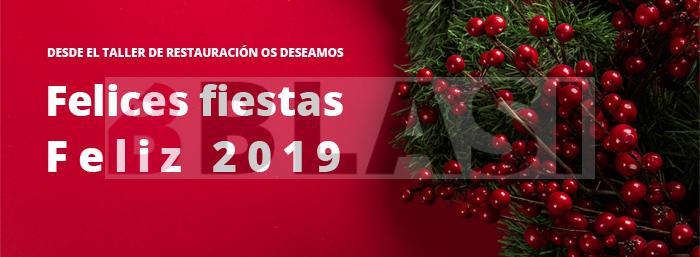 Desde el taller de restauración os deseamos felices fiestas y feliz 2019!