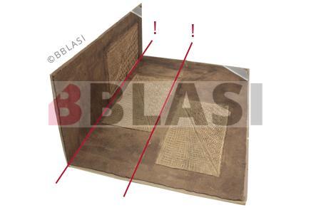 L'obra gràfica sobre paper d'amate plegada en tres