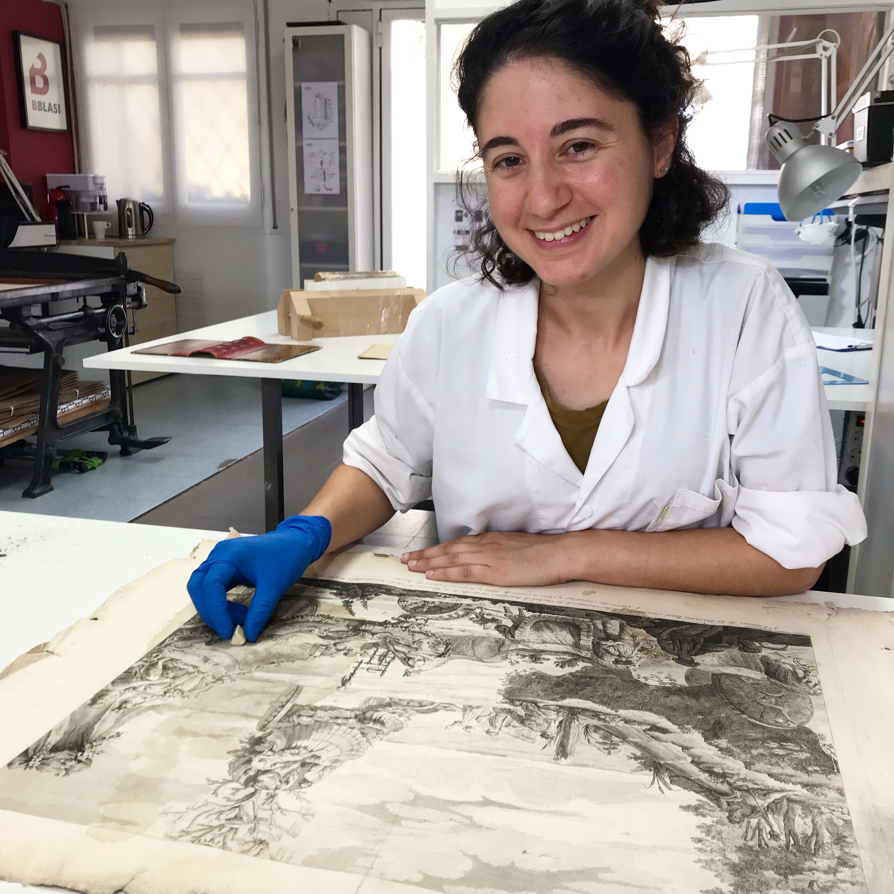 Marta Dot restauradora de paper
