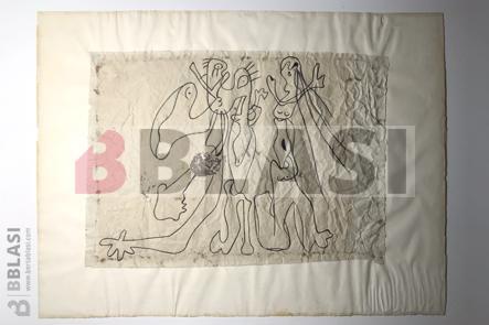 Collage de Joan Miró abans de la restauració