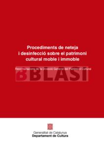 COVID19 Neteja i desinfecció de patrimoni cultural moble i immoble