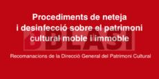 Procediments neteja i desinfecció sobre el patrimoni cultural moble i immoble