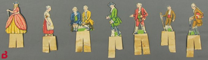 Figueretes dels personatges de les obres del teatre de paper